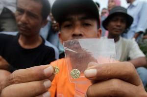 Koin emas temuan warga di Krueng Daroy, Banda Aceh. Serambi Indoensia/BudiFatria